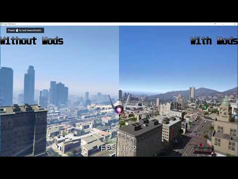 Grand Theft Auto 5 / GTA V Ultra vs Ultra with Graphics Mod 1080p60fps