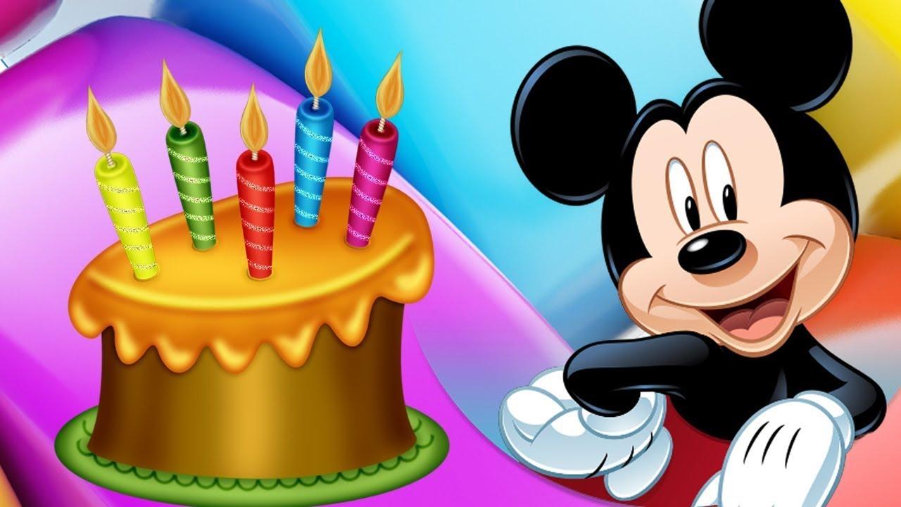Canción Cumpleaños Feliz De Mickey Mouse Tradicional Original Para Dedicar Niños Infantiles Youtube