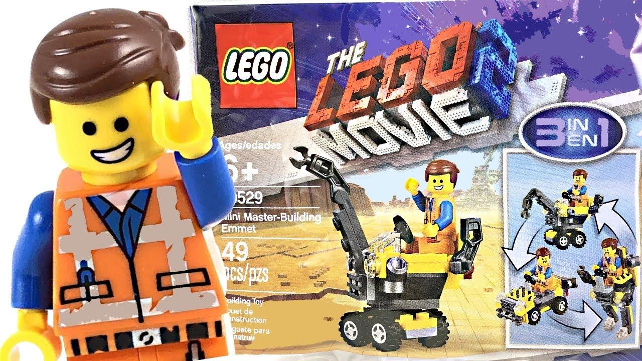 LEGO The Movie 2 Mini Master-Building Emmet Polybag Set 3in1 Construction Blocks