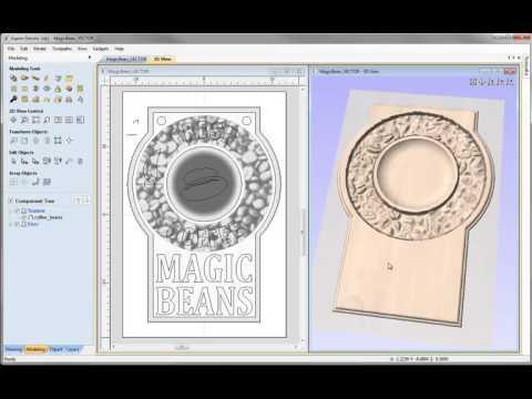 Vectric V8 Tutorials - Magic Beans 3D Modeling