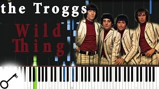 Troggs - Wild Thing [Piano Tutorial] Synthesia | passkeypiano