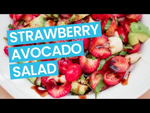 Strawberry Avocado Caprese Salad