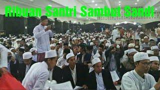 Ribuan Santri Sambut Sandi di Ponpes Darussalam Jatibarang
