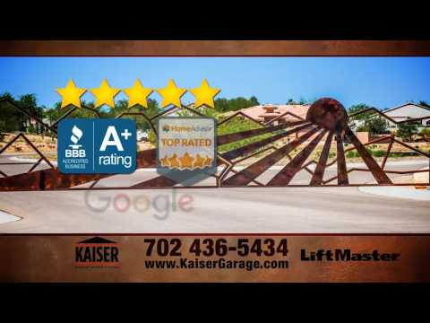 Kaiser Garage Doors Amp Gates Las Vegas Trust Youtube