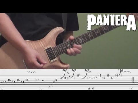 Guitar Lesson - Pantera's Cowboys from Hell solo, including Tabs