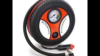 mini portable car air compressor for bike on swimming flatables