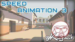 CS:GO-Cartoon. Geschwindigkeit Der Animation 3-Hintergrund