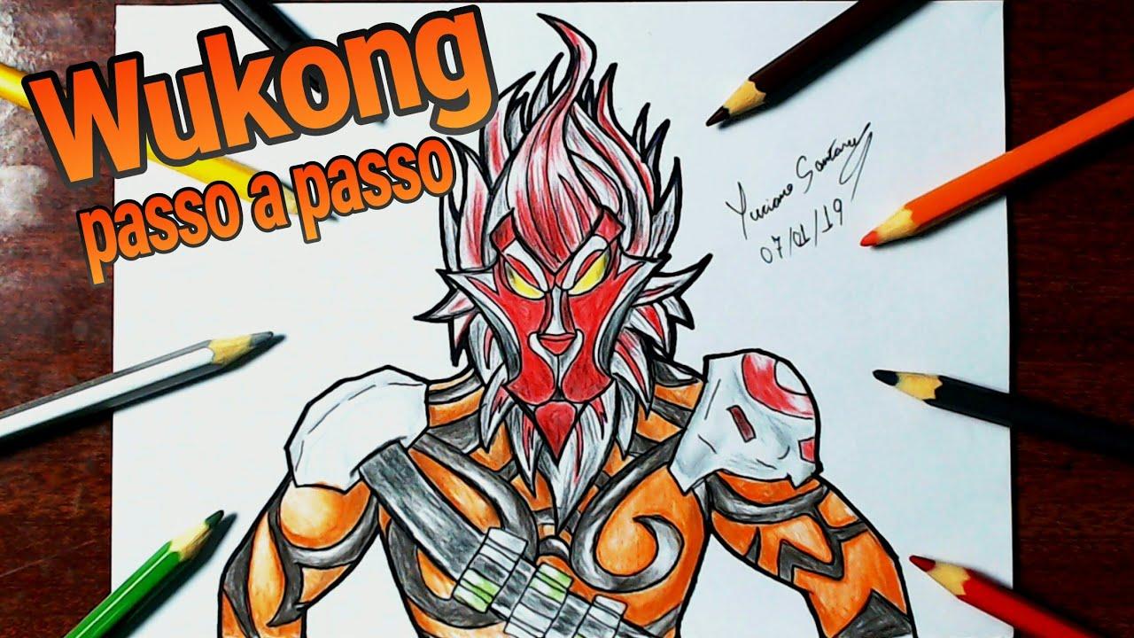 Como Desenhar O Wukong Free Fire How To Drawing Wukong Free Fire