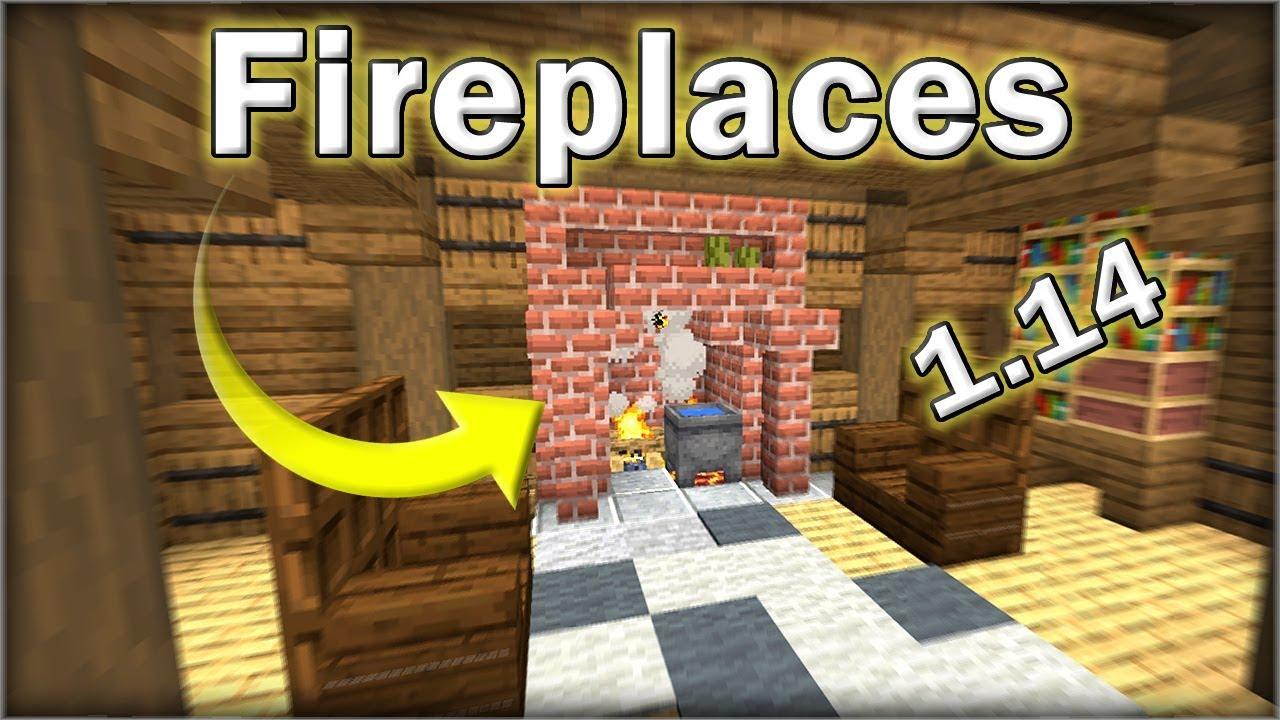 Minecraft 1 14 Fireplace Designs Youtube