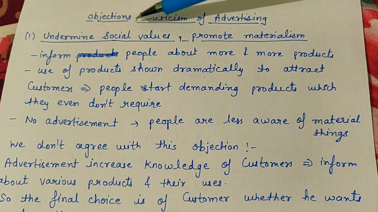 Objections / criticism of advertising (class 12 business studies ...