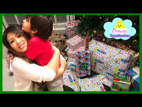 Thumbnail: Christmas Morning 2016 Opening Presents Surprise Toy kids Family Fun Games Princess ToysReview part1