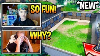 STREAMERS *FIRST TIME* PLAYING IN SPIKY STADIUM! *CRAZY* Fortnite FUNNY & EPIC Moments