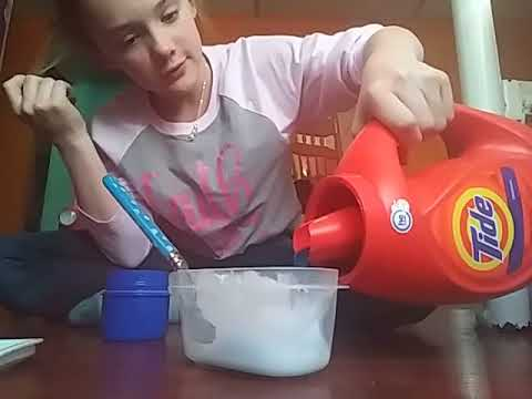 Making slime shh (not allowed to make slime)