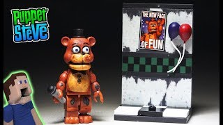 Five Nights at Freddy's Mcfarlane Toys Party Wall WITHERED FREDDY FNAF Lego Unboxing Playset