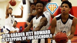 FRESHMAN PHENOM Jett Howard is STEPPING UP BIG TIME For USchool!! | District Finals Highlights