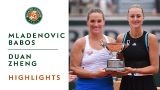 Mladenovic-Babos vs Duan-Zheng - Final Highlights | Roland-Garros 2019