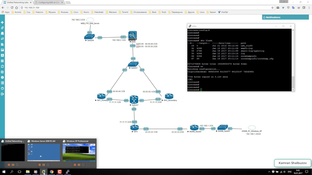 Configuration Cisco ASA Dual Active ISPs