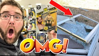 SMASHED GLASS DOOR - MUST SEE IT SHATTER! New WWE Figures Unboxing