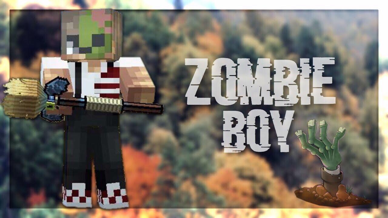 Pixel Gun 8D - Half zombie boy skin!!(Halloween special)