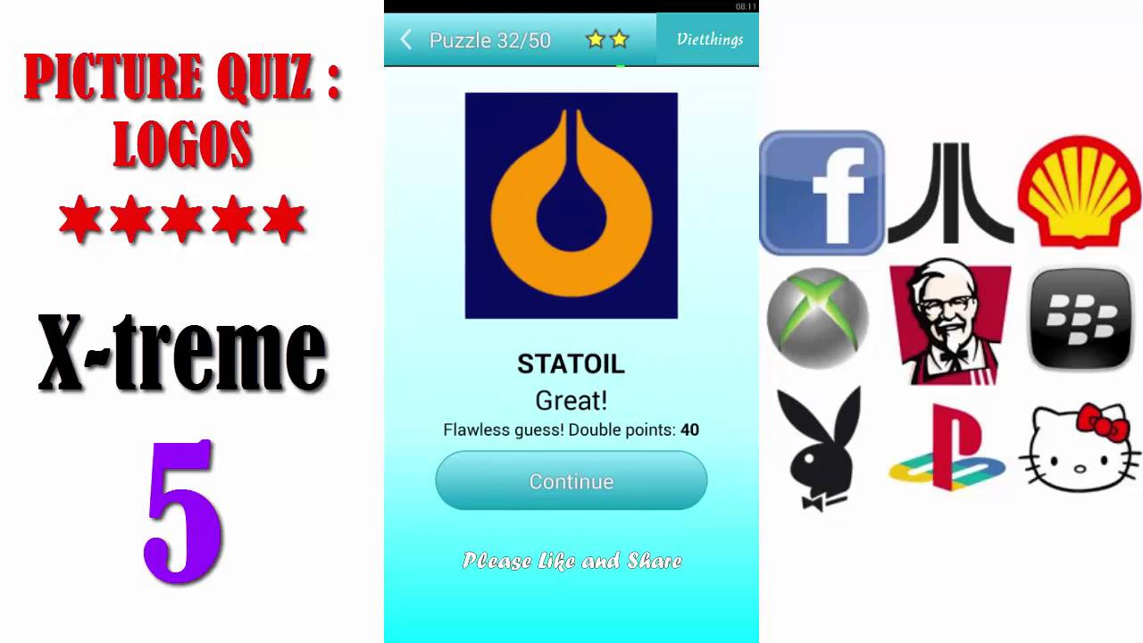 Picture Quiz: Logos X-treme Level 5 - All Answers - Walkthrough ( By  Timeglass Works )