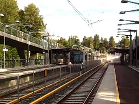 Oslo Metro line 6 train to Bekkestua calling at Jar station.