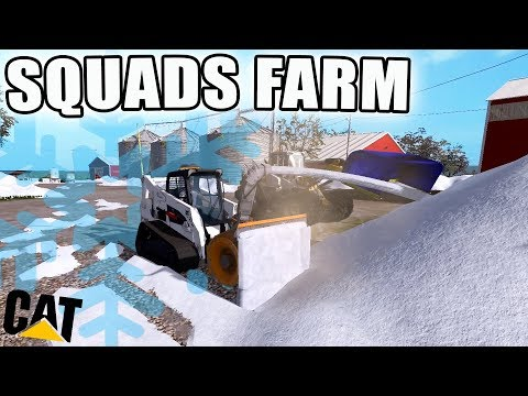CLEARING SQUADS FARM | FARMING FRIDAY | SNOW REMOVAL | FARMING SIMULATOR 2017