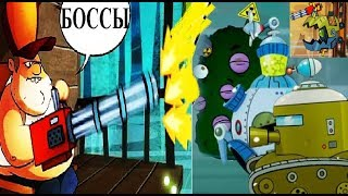 РЕЙД НА БОССОВ в игре  SWAMP ATTACK БОИ С БОССАМИ НА БОЛОТЕ ИГРА АТАКА и ОХОТА НА ЗОМБИ ЗВЕРЕЙ