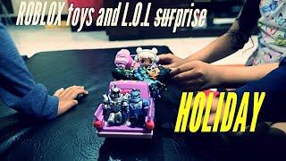 ROBLOX brinquedos e L. O. L surpresa de férias