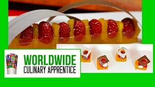 Raspberries and pineapple in a apricot glazed and a chocolate twist