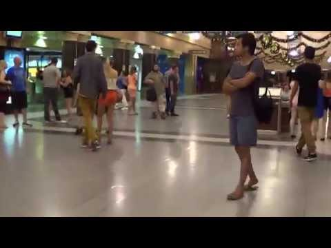 SA police at Adelaide, security etc., Adelaide Railway Station, new years day (deshaked video)