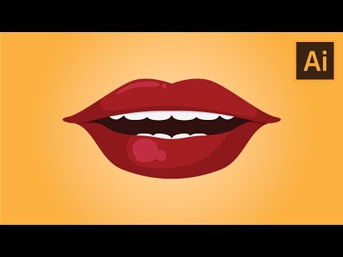 How to draw Female Lips in Adobe Illustrator thumbnail