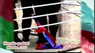 Водружение Азербайджанского флага в освобожденном от армян Горадизе.Horadiz əməliyyatı