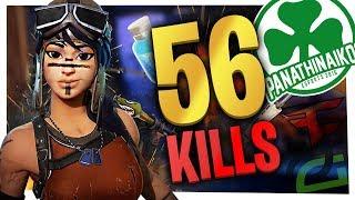 56 KILLS Squads *NEW WORLD RECORD* - Fortnite Battle Royale