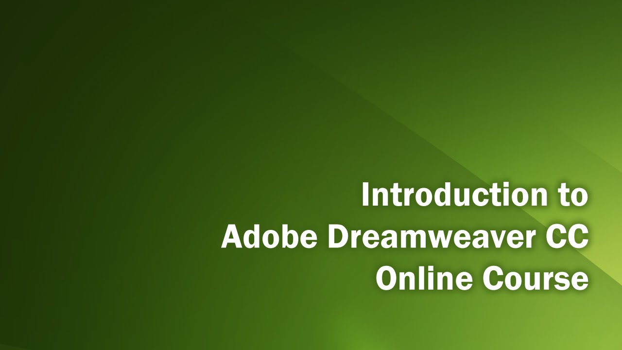how to make a slideshow in dreamweaver cc