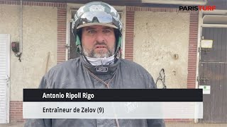 Antonio Ripoll Rigo, entraîneur de Zelov (19/10 à Vincennes)