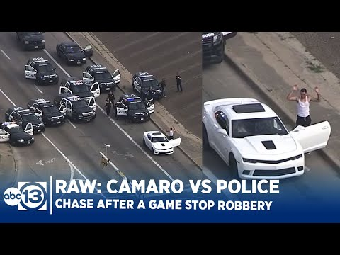 RAW VIDEO: Camaro vs Police Cars After Game Stop Robbery in Houston from YouTube · Duration:  28 minutes 38 seconds