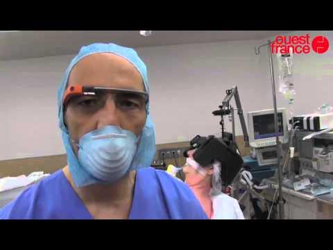 Opération retransmise avec des Google Glass CHP de Saint-Grégoire