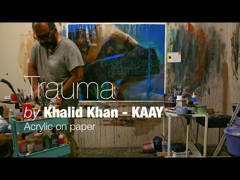 """Trauma"" Acrylic on paper 