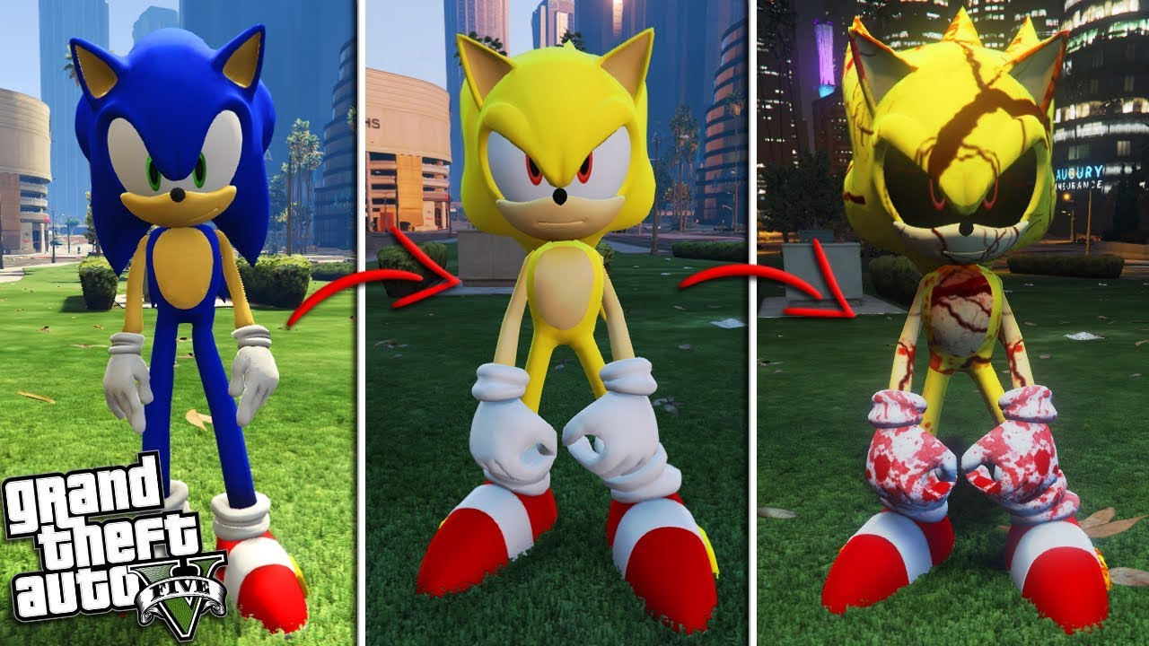 The Evil Super Sonic The Hedgehog Gta 5 Mods Youtube