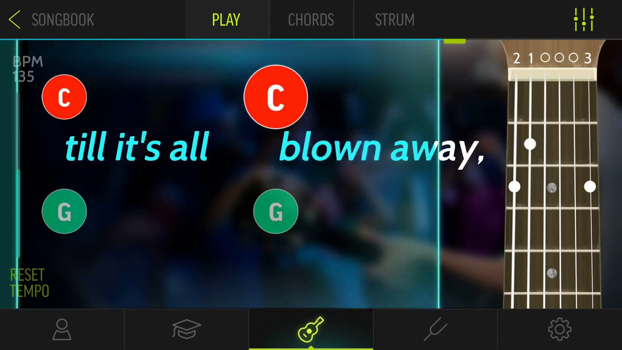 Learn To Play Blown Away By Carrie Underwood With Guitar Karaoke