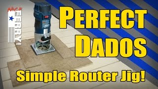 Ⓕ Perfect Dados & Grooves - Simple Router Jig (ep68)