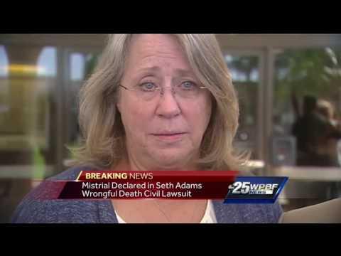 Mistrial declared in Seth Adams wrongful death lawsuit