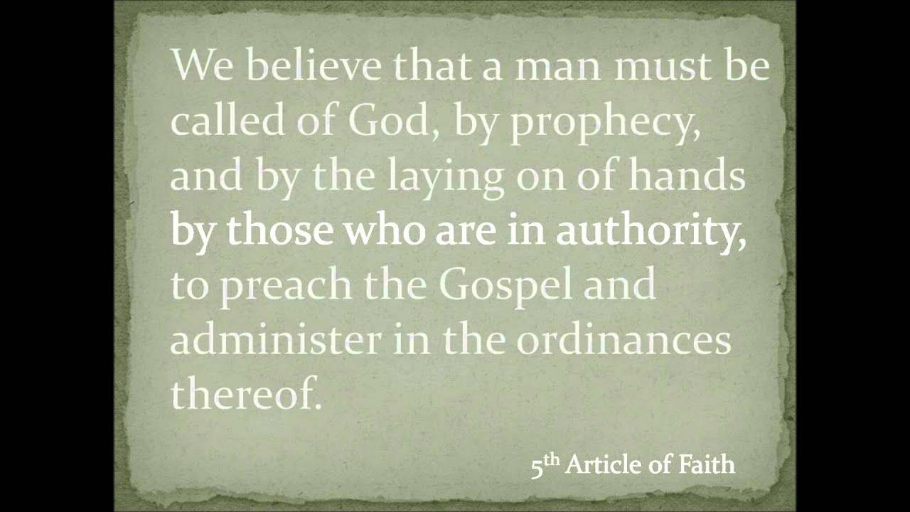 fifth article of faith