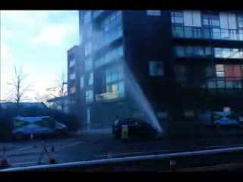 glasgow water main burst 9th Jan 2014