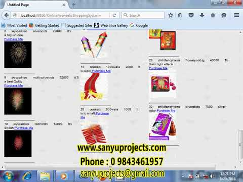Onilne Fireworks Shopping System ASP.Net Ms Access / Sql Server Project