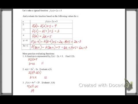 Functions #4 Revisiting Function Notations & Composition of Functions