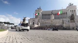 Nissan Leaf driving in Rome Full HD