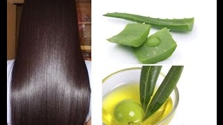 DIY Homemade Hair Conditioner _ Aloe Vera & Argan Oil For Dry Hair _ superwowstyle