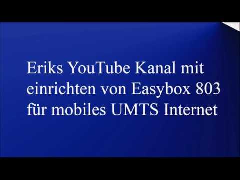 Dsl Easybox 803 Mobiles Internet Einrichten Für O2 Free Youtube