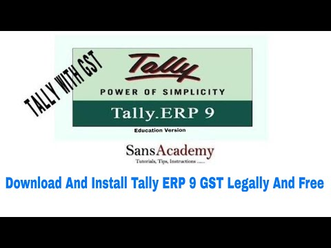 how to download and install tally...